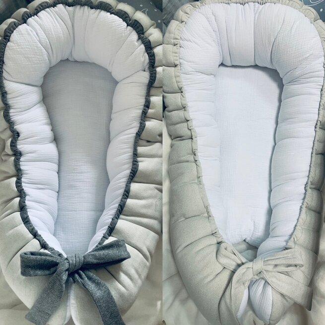 Baltas gultelis su muslinu