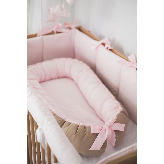 """Švelniai rožinis kūdikio gultelis """"Sapnų Gaudyklė"""""""