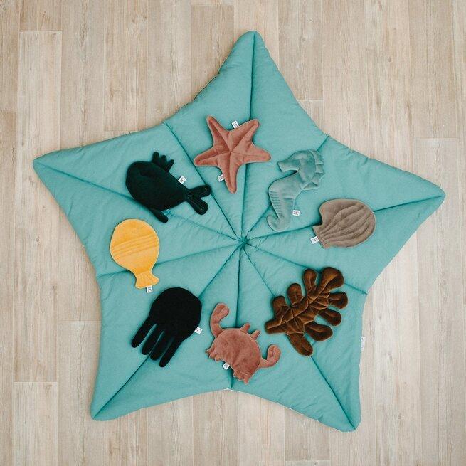 """Lavinamasis kilimas žvaigždė  """"Vandenynų"""" smaragdinė - žydra"""