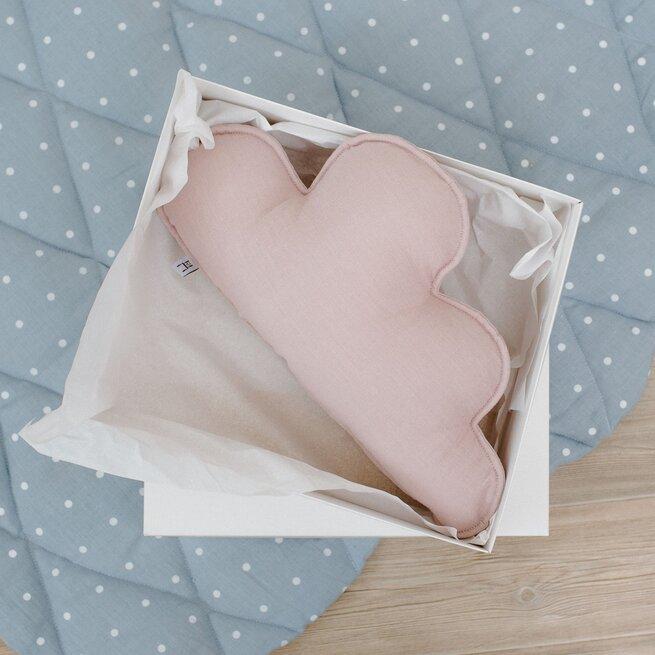 Dekoratyvinė pagalvėlė lininis debesėlis RAUSVAS