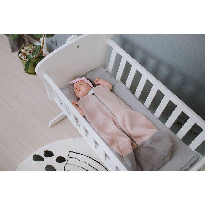 Rausvas miegmaišis kūdikiui