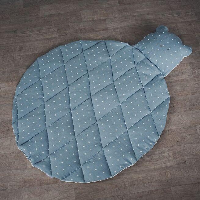 """Mėlynas lininis kilimas """"Meškutis"""""""