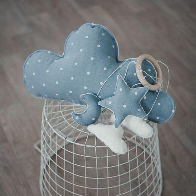 Melsvas miego karuselės ir debesėlio RINKINYS