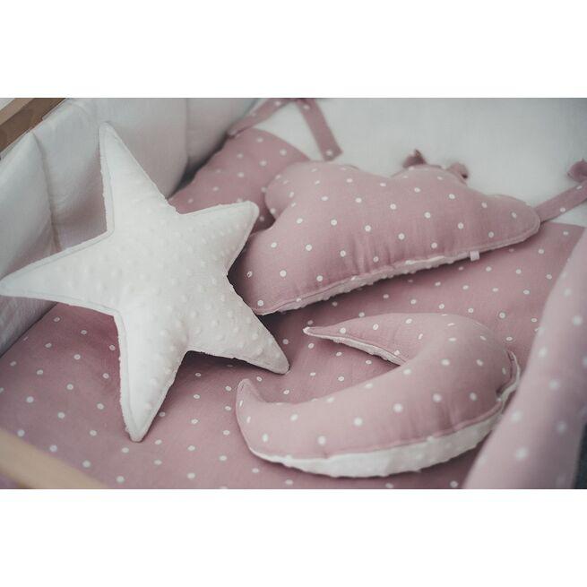 """Dekoratyvinė pagalvėlė žvaigždelė rausvas """"Lininis Ūkas"""""""
