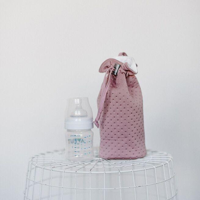 Rausvas buteliuko šildiklis