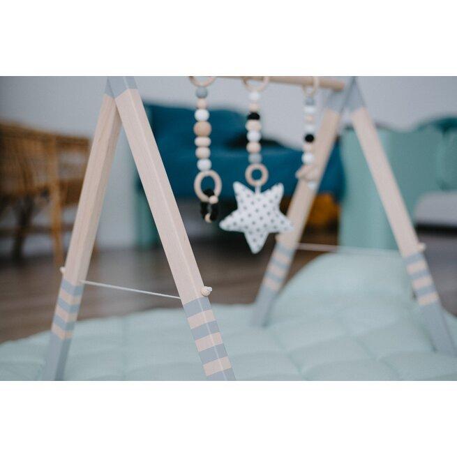 Pilkas lavinamasis stovelis su virvele