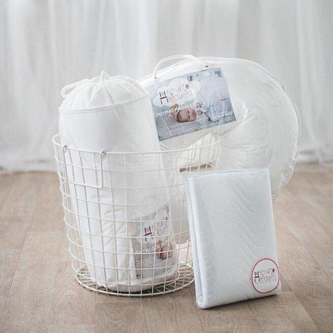 Kraitelis kūdikiui: Antklodė, pagalvė, žindymo pagalvė, drėgmę sugeriantis antčiužinis