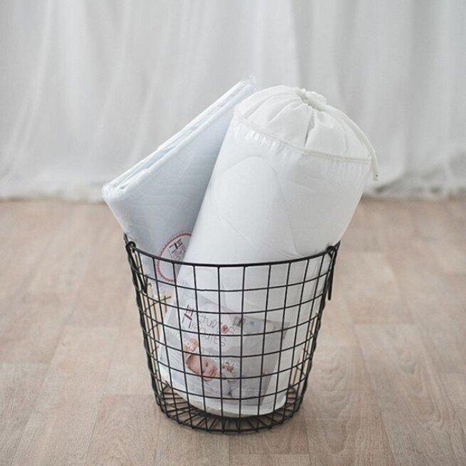Kraitelis kūdikiui: Antklodė ir pagalvės komplektas + drėgmę sugeriantis antčiužinis