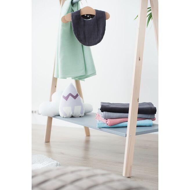 Medinė vaikiška kabykla su PILKA lentyna
