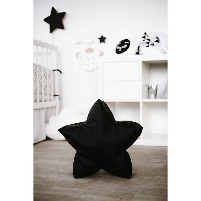 Sėdmaišis - pufas žvaigždelė BALTA